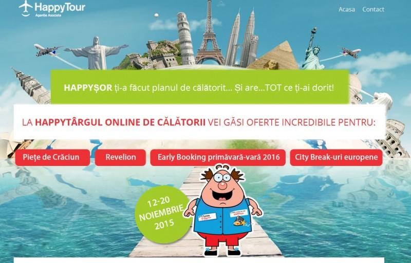 """Happy Tour lansează """"Happytârgul online de călătorii"""""""